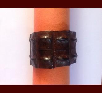 Wide Crocodile Wristband